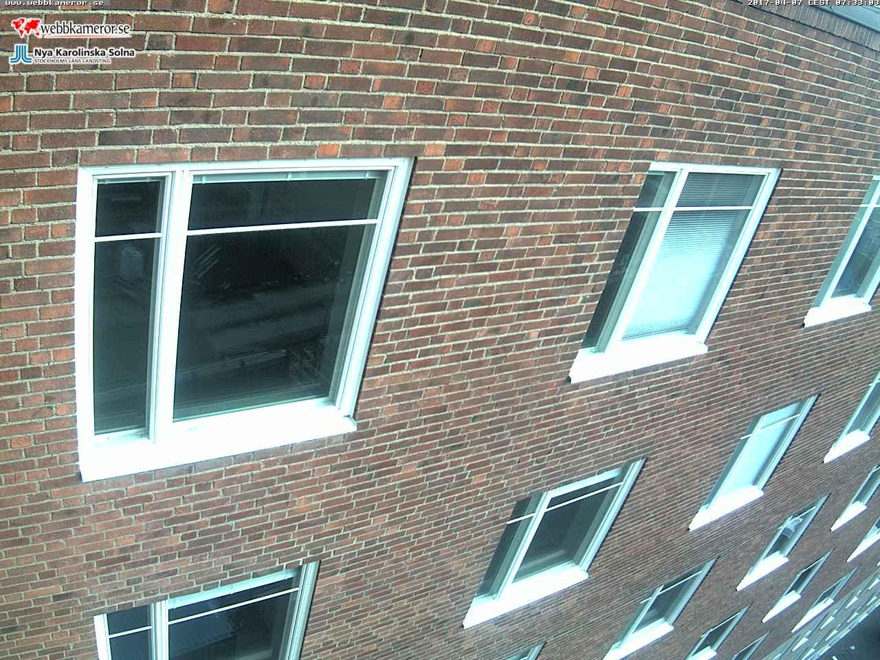 Webbkamera vid Nya Karolinska Solna